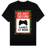 Do Not Disturb Gamer at Work Video PS3 Game Shirts