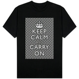 Keep Calm and Carry On (Zebra) T-Shirt
