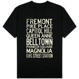Seattle Transit Style Vintage T-shirts