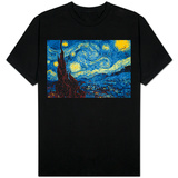 8-Bit Art The Starry Night T-shirts