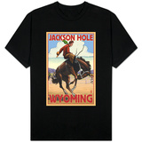 Jackson Hole, Wyoming Bucking Bronco T-shirts