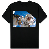 NASA Astronaut Spacewalk Space Earth Photo T-Shirt