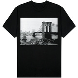 Brooklyn Bridge Over East River and Surrounding Area T-Shirt