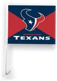 NFL Houston Texans Car Flag with Wall Brackett Flag