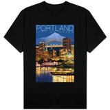 Portland, Oregon - Skyline at Night Shirt