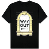 London Underground Way Out Sign T-shirts
