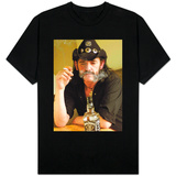 Lemmy Smoking Cigarette, Hard Rock Band Motorhead, October 2002 T-Shirt