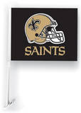 NFL New Orleans Saints Car Flag with Wall Brackett Flag
