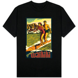 Duke Kahanamoku Surfing Scene, Waikiki, Hawaii T-shirts