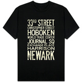 NY/NJ PATH Train Stations Vintage T-Shirt