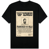 Pancho Villa Wanted Sign T-Shirt