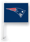 NFL New England Patriots Car Flag with Wall Brackett Flag