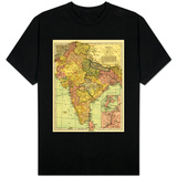 India - Panoramic Map T-shirts