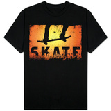 Skateboarding Orange T-shirts