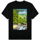 Leconte Creek and Mt. Leconte - Great Smoky Mountains National Park, TN Shirts