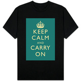 Keep Calm and Carry On (Slate) T-Shirt