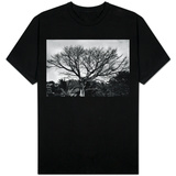 Large Tree in Costa Rica Black White Photo T-shirts