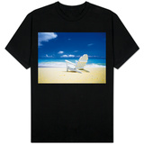 Beach Chair on Empty Beach T-shirts