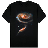 Rose Galaxy Hubble Space Photo T-shirts