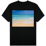 White sand beach in Cancun Shirts
