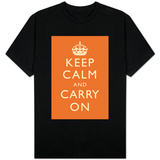 Keep Calm and Carry On (Orange) T-Shirt