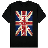 Keep Calm and Carry On (Union Jack Flag) T-shirts