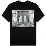 Pedestrian Walkway on the Brooklyn Bridge T-shirts