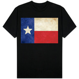 Texas Flag Distressed T-shirts