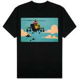 Apache Helicopter with Bow T-Shirt
