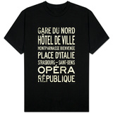 Paris Metro Stations Vintage T-Shirt