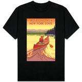 The Adirondacks, New York State - Canoe Scene T-Shirt