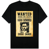 Jesse James Wanted Advertisement T-Shirt
