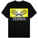 Tennis Crossed Rackets Yellow Shirt