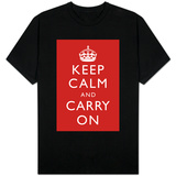 Keep Calm and Carry On (Red) T-skjorter