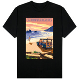 California Beaches - Woody on Beach T-shirts