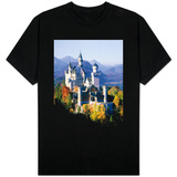 Neuschwanstein Castle in autumn, Bavaria, Germany T-shirts