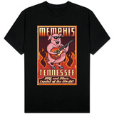 Memphis, Tennessee - Guitar Pig T-Shirts