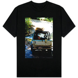 Jeep Going Surfing in Costa Rica Photo T-Shirts