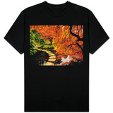 Autumn Colors in Butchart Gardens, Victoria, Vancouver Island, British Columbia, Canada T-Shirt