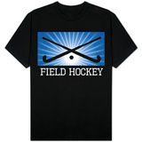 Field Hockey Crossed Sticks Blue T-shirts