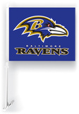 NFL Baltimore Ravens Car Flag with Wall Brackett Flag