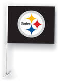 NFL Pittsburgh Steelers Car Flag with Wall Brackett Flag