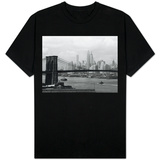 Manhattan Skyline And Brooklyn Bridge T-Shirt