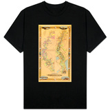 Map Depicting Plantations on the Mississippi River from Natchez to New Orleans, 1858 T-Shirt