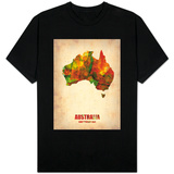 Australia Watercolor Map T-Shirt