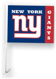NFL New York Giants Car Flag with Wall Brackett Flag
