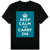 Keep Calm and Carry On (Peacock) T-shirts