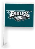 NFL Philadelphia Eagles Car Flag with Wall Brackett Flag