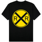 Railroad Crossing Sign T-shirts