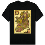 Ireland - Panoramic Map T-shirts